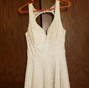 White lace B. Smart dress